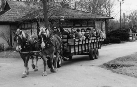 1991: A holiday hay ride is among the offerings at Ravinia's second annual Winter Wonderland.