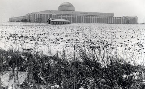 1985: Old Chicago, which cost $20 million to build, sits abandoned on its 57-acre site. It closed in 1980 and the wrecking ball arrived in the spring of 1986.