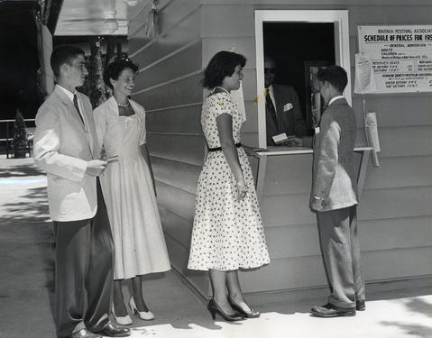 1953: Teens from Loyola Academy, Sacred Heart Covenant and New Trier High School buy concert tickets.