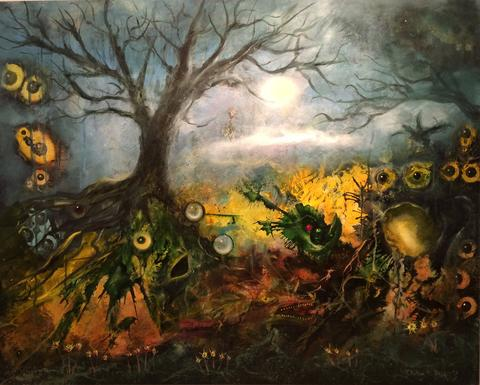 """Return of the Harbinger,"" an exhibit of work by surrealist painter Clinton Deckert of Southington, will be at Paris in Plantsville Gallery, 15 W. Main St. in the Plantsville section of Southington, from Oct. 3 to 30. An opening reception will be Oct. 3 from 6 to 9 p.m. Guitarist Steve Rutledge will perform at that party. Regular gallery hours are Wednesday noon to 5 p.m., Thursday noon to 8 p.m., Friday noon to 3 p.m., Saturday noon to 4 p.m. and Sunday noon to 2 p.m. www.parisinplantsville.com."