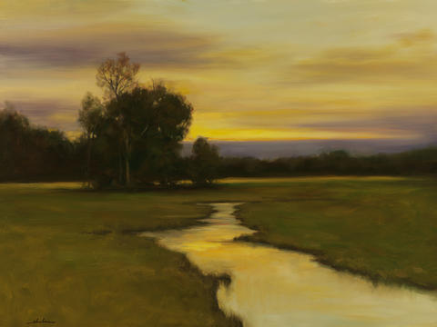 "Susan Powell Fine Art, 679 Boston Post Road in Madison, presents ""Poetic Landscapes,"" an exhibit of work by Dennis Sheehan and Curtis Hanson, from Oct. 2, when it opens with a reception from 5 to 8 p.m., until Oct. 31. This is ""Evening Glow"" by Dennis Sheehan. Gallery hours are Tuesday to Saturday 11 a.m. to 5 p.m. Details: www.susanpowellfineart.com."