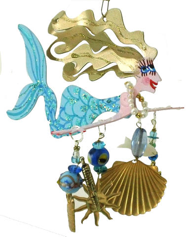 "Karen Rossi Studios, 27 East Main St. in Torrington, presents a ""Mermaids & Seashells Art Show"" on Oct. 1, with a reception from 4 to 7 p.m. I will be up all month. Rossi's metal mermaid mobiles will be shown along with the mixed-media shell paintings of Becky Koladis. www.karenrossi.com."