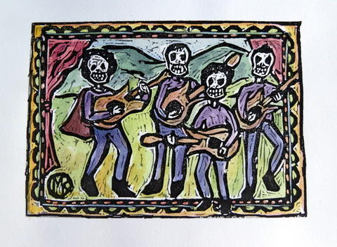 """El Dia de los Muertos: A Mexican Celebration & Artists' Exhibit"" will be at Marlborough Arts Center, 231 Main St., from Oct. 10 to Nov. 8. A reception on Oct. 16 from 6 to 8 p.m. will feature a Mexican buffet, at $10 a person. Artists in the exhibit include Agatha Hoover, Jerry Redding, Maggie Kendis, rJo Winch, Whitney Whitakeer and Marilyn Ulion. This is by Kendis. www.marlborougharts.org."