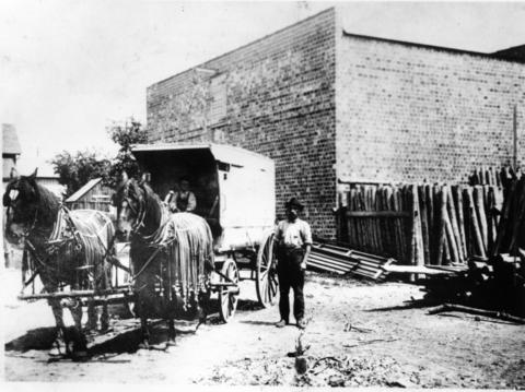 A photo of the old Hammerschmidt Lumber Co. yard founded by William Hammerschmidt.