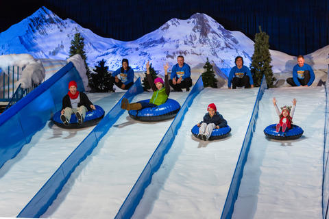 A tube run is part of the holiday festivities at Gaylord Palms.