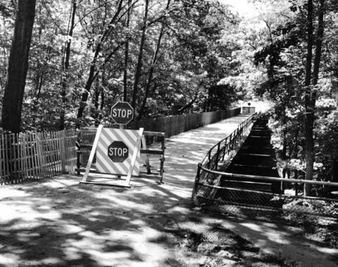 July, 1964: A bridge on Mayflower Road between Maplewood and Illinois roads is part of a debate between those who want to tear down the aging bridge and others who think it should stay because it adds to the beauty of the area.