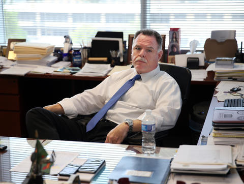 Chicago police Superintendent Garry McCarthy talks to a Chicago Tribune reporter in his office at police headquarters on Sept. 10, 2015.