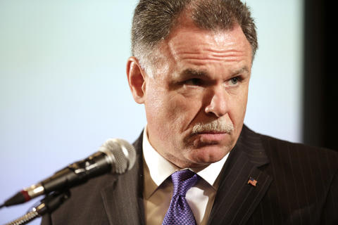 Chicago police Superintendent Garry McCarthy speaks at the City Club of Chicago luncheon Sept. 3, 2014, at Maggiano's.