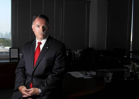 Chicago police Superintendent Garry McCarthy poses in his office Sept. 1, 2011. McCarthy was a police officer in New York City when the Sept. 11 attacks occurred in 2001.