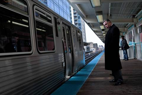 "Police Superintendent Garry McCarthy waits on a CTA platform Nov. 21, 2011, for the arrival of Mayor Rahm Emanuel and CTA President Forrest Claypool to announce that the project to install security cameras at ""L"" stops across the city has been completed six weeks ahead of schedule."