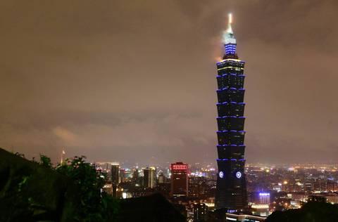 No.4 Taipei 101 building in Taipei is 1,667 feet high.