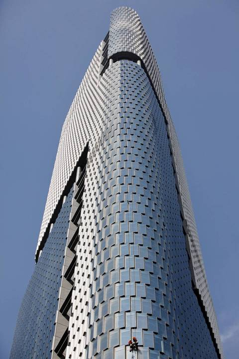 No.9 Zifeng Tower in Nanjing, China stands at 1,476 feet.