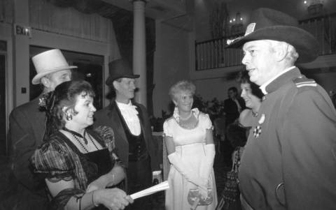 November 1991: Revelers dress in 1860s-era clothing to celebrate Palatine's 125th anniversary at a dance.