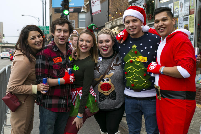 the 20th annual twelve bars of christmas in wrigleyville on saturday december 12 2015