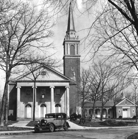 The Congregational Church of Winnetka on the verge of its grand opening in April 1936.