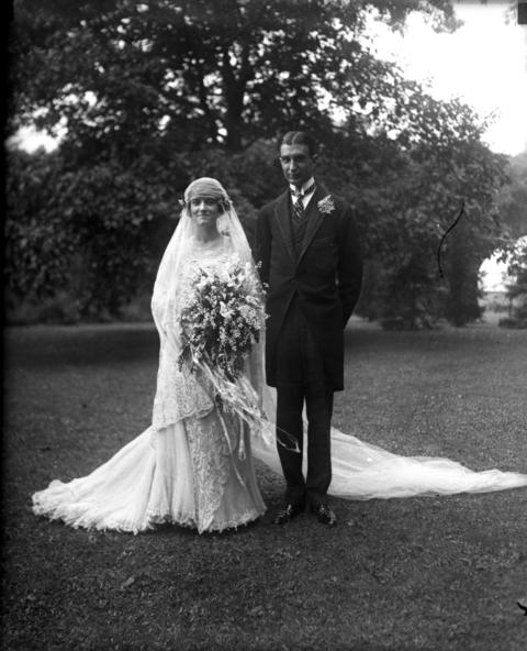 "Hempstead and Mary (nee Dennehy) Washburne were married on Sept. 10, 1921, at the summer residence of the brides parents in Winnetka. The morning wedding was planned for the garden followed by a breakfast served at the house. It rained and the wedding was moved indoors. ""About 250 persons witnessed the ceremony which made Miss Dennehy the wife of her childhood playmate."" Hempstead was the son of former Chicago mayor Hempstead Washburne Sr., who was mayor from 1891-1893."