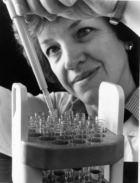 July 1987: Cynthia Chubb, a researcher at Argonne National Laboratory, near Lemont, concentrates blood cells for a test to show that ingredients in marijuana keep blood cells from maturing, thereby reducing the body's ability to fight disease.