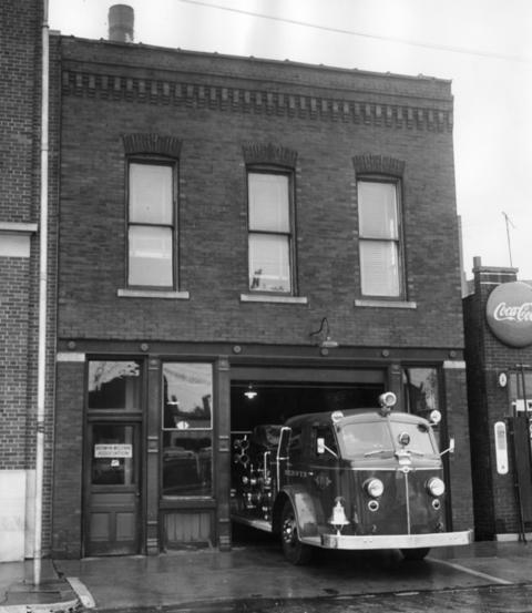 July 1958: A look at the fire station that houses Berwyn's engine company 1, located at 6728 Windsor Ave. The building had been in service since 1896.