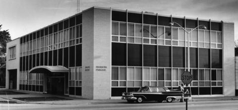 September 1962: An exterior shot of the Berwyn Police Station located at 6647 W. 26th St.