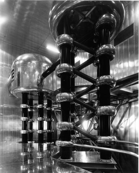 June 1962: An accelerator injection system of the $47 million Zero Gradient Synchrotron (atom smasher) nears completion at Argonne National laboratory near Lemont, DuPage county.