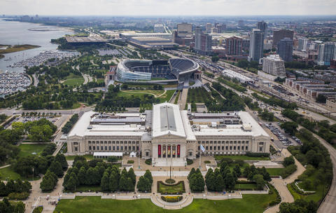 The Field Museum and Soldier Field on Aug. 18, 2015.