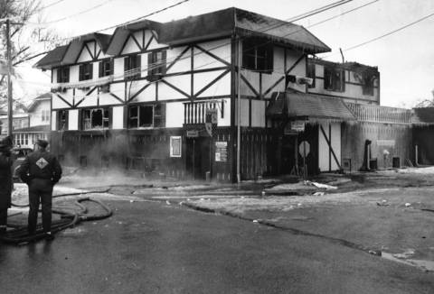Alpine Executive House, 70 E. Main St., Lake Zurich, after two of the hotel's residents were killed and two others injured in a fire the previous day.