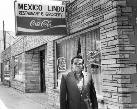 Ezequiel Torres stands outside his Lake Zurich restaurant. He wants to remodel the restaurant, at 35 N. Old Rand Rd., but village regulations decree an Alpine theme.