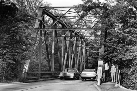 May, 1987: The Old Rockland Road bridge was subject to debate among Libertyville residents. Some called it a charming, historic relic, while others claimed it was a traffic hazard.