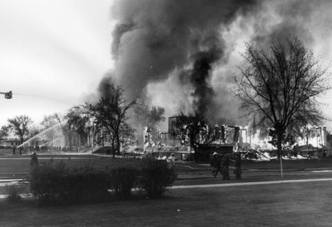 May, 1967: A $2.5 million fire gutted the commissary building at the base. The building's theater, grocery store, barber shop, cleaners and library were destroyed in the largest fire in base history.
