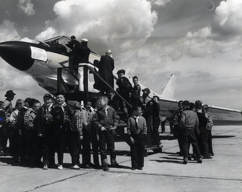 May, 1961: An example of an aircraft that will be on display at Glenview Naval Air Station's open house on Armed Forces Day.