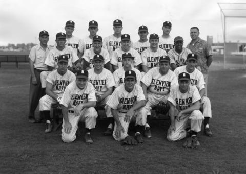 June, 1953: The NAS Glenview baseball team.
