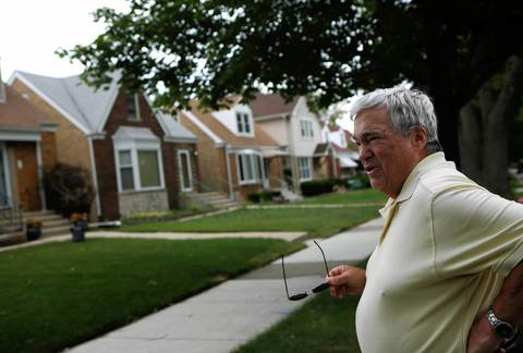 Jerry Krause tries to pick out his childhood home on Everell Avenue in June 21, 2012.