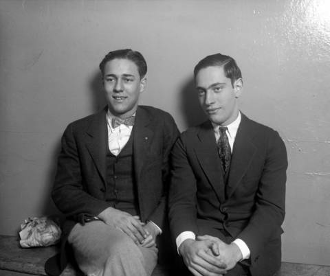 """Richard Loeb, 18, left, and Nathan Leopold Jr., 19, were in college in 1924 when they decided to commit the """"perfect crime"""" by killing Robert """"Bobby"""" Franks on May 21, 1924."""