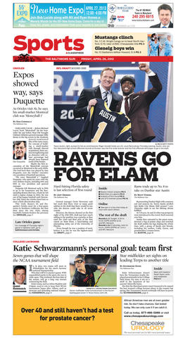 The Ravens closed out the first round by using the No. 32 pick on Florida safety Matt Elam. Local product Tavon Austin went to the St. Louis Rams at No. 8 overall.