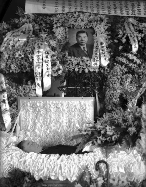 The funeral service for Frank Moy, the unofficial mayor of Chinatown and head of the On Leong tong, was held at the Chinese Christian Union Church at 23rd Street and Wentworth Avenue in Chinatown in 1937.