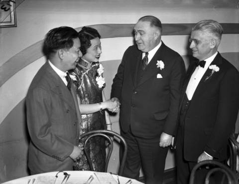 "Gerald Moy, the new ""mayor of Chinatown,"" left, in 1939."