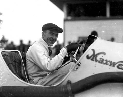 """Edward """"Eddie"""" Rickenbacker was a famous fighter ace in World War I, race car driver, automotive designer, and owner of the Indianapolis 500 starting in 1927. """"Fast Eddie"""", who competed four times in the Indianapolis 500 before the war, drove a Maxwell in the 1915 and 1916 Indy 500."""