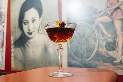 Run the Jewels (gin, vermouth and house Chartreuse, $14):A bijou reimagined and, oh my darling, is it a staggeringly herbaceous sip with notes of dry earthy roots and juicy red cherries. The house Chartreuse is a blend of infusions made from stems and clippings of more than 50 herbs—such as marigolds, lovage, American bergamot, angelica root and mint—and cut-up barrel staves from Rare Tea Cellar.