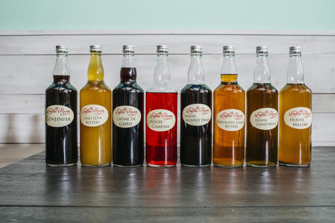 Spirits, bitters and liqueurs made and infused in-house.