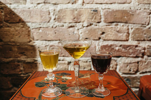 Housemade plays on Malort (left), chartreuse and Campari, infused in-house.