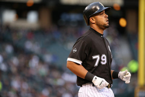 Jose Abreu after grounding out in the first inning against the Royals at U.S. Cellular Field on Friday, May 20, 2016.