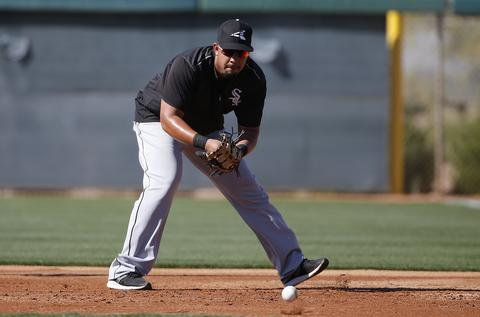 Jose Abreu fields a grounder during a spring training workout on Feb. 22, 2016.
