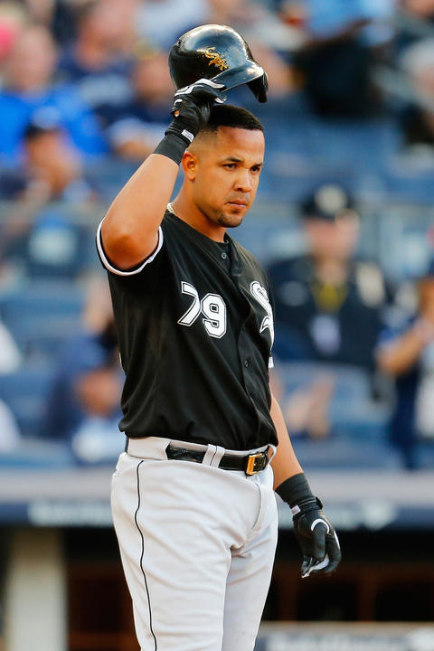 Jose Abreu reacts after striking out with the bases loaded in the fifth inning against the Yankees.