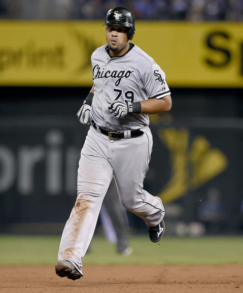 Jose Abreu rounds the bases on a solo home run in the eighth inning against the Royals.