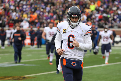 Jay Cutler heads for the locker room during a game against theVikings.