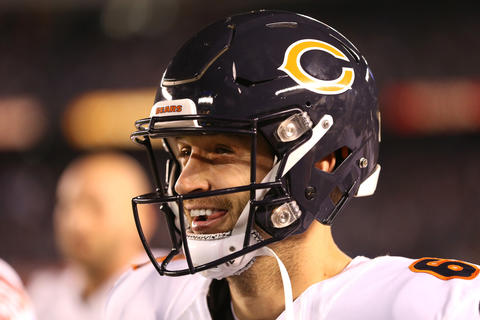 Bears quarterback Jay Cutler has a smile on his face during the game against the Chargers at Qualcomm Stadium.