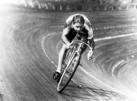 Bike racer Bill Jacoby was an amateur racer in the 1940s and a regular six-day racer in the 1950s. Jacoby, along with teammate and fellow Chicagoan Ed Carfagnini, won many races at the Humboldt Park bicycle bowl during the 1940s. Jacoby's last race was in 1958.