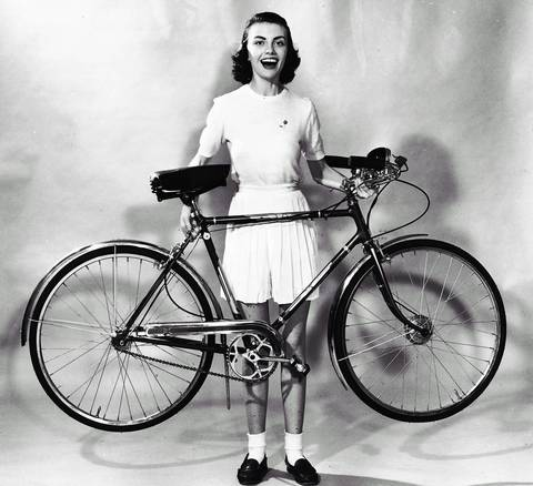"""The new American-made lightweight bicycle is advertised to be the answer to the ever-growing demand of many teenagers and adults for a so-called """"racer"""" or """"touring"""" two-wheeler in 1953."""