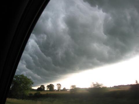 Sunday morning storm rolling across I-55 near Bloomington.
