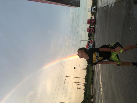 My son is acting like he is swallowing the rainbow!!